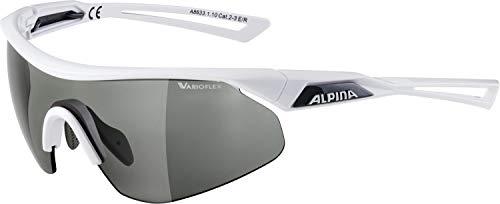 ALPINA NYLOS SHIELD VL Sportbrille, Unisex– Erwachsene, white, one size