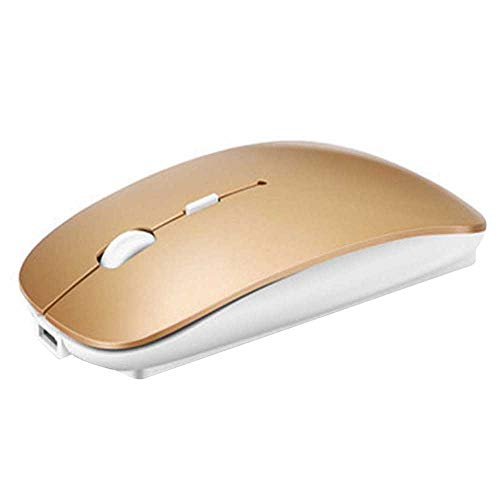 Rechargeable Bluetooth Mouse for Mac Laptop Wireless Bluetooth Mouse for Windows Notebook Tyrant gold