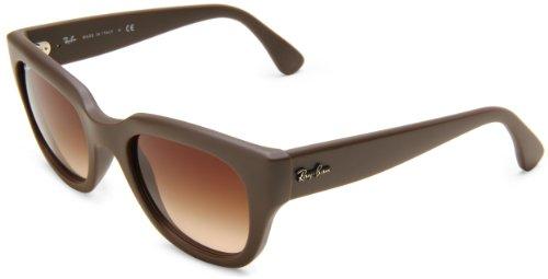 Ray-Ban Women's RB4178 Square Sunglasses, DEMI SHINY TURTLEDOVE, 51 mm