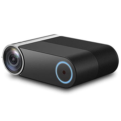 ZLASS Mini proyector, proyector de Video LED portátil 1080P, Compatible con conexión inalámbrica a teléfonos móviles, Compatible con HDMI VGA USB DVD, para Entretenimiento en el hogar