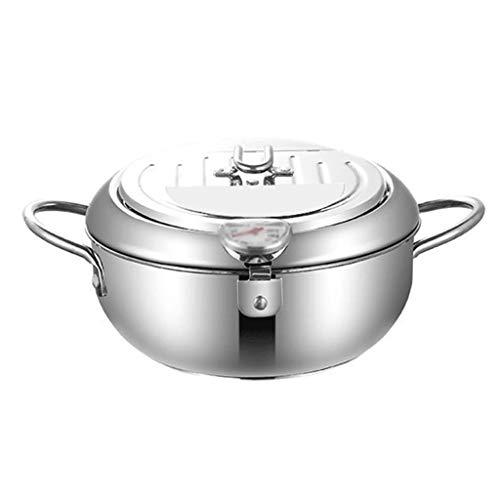 MISS Z Friggitrice in acciaio inox e coperchio friggitrice per cucina per cucina in assi cucina