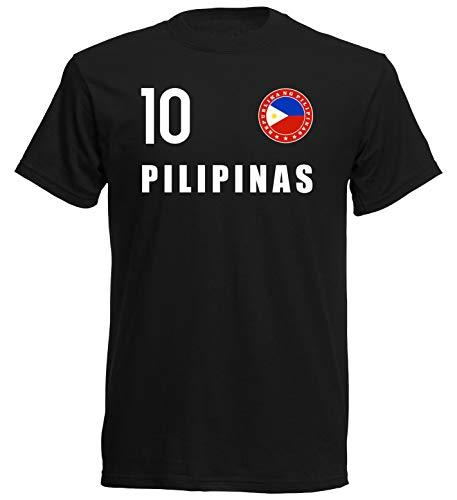Nation Philippinen T-Shirt Trikot Wappen FH 10 SC (S)