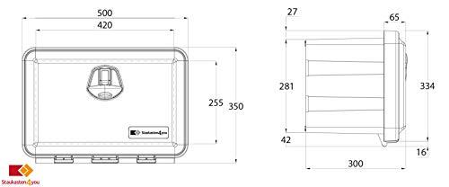28l Unterbaubox für Nutzfahrzeuge oder Anhänger, Staubox, Werkzeugkiste, Gurtkiste, Deichselbox - 6
