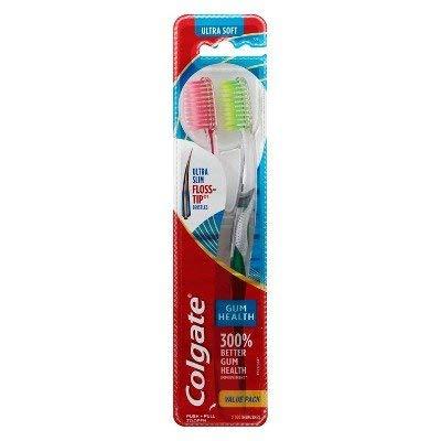 Colgate Total Clean in Between Manual Toothbrush FHS - 2ct