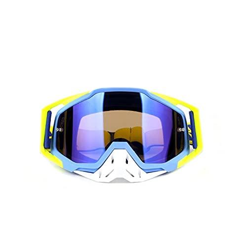 Gafas de motocross Casco de motocicletas Casco Ciclismo Gafas ATV Dirt Bike Gafas de sol Gafas de seguridad Máscara de esquí Amarillo (Color : Yellow)