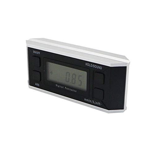 RongWang 360 Medidor de Grado ángulo de Metal electrónica Digital del inclinómetro del prolongador Goniómetro Nivel Caja de Herramienta de medición