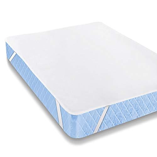 Karcore Matratzenschoner Wasserdicht 140 x 200 cm Atmungsaktive Matratzenauflage, Baumwolle, Anti-Allergie Matratzenschutz