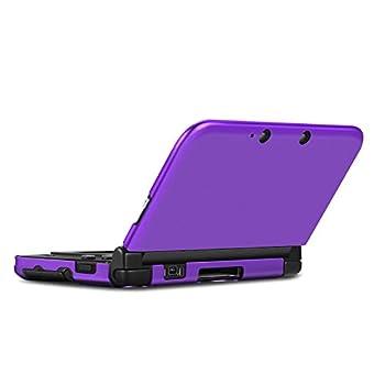 TNP 3DS XL LL Case  Purple  - Full Body Protective Snap-on Hard Shell Aluminium Plastic Skin Cover for Nintendo 3DS XL LL 2012 Original Model