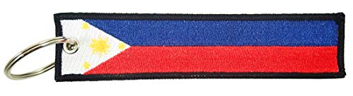 Philippines Flag Key Chain, 100% Embroidered