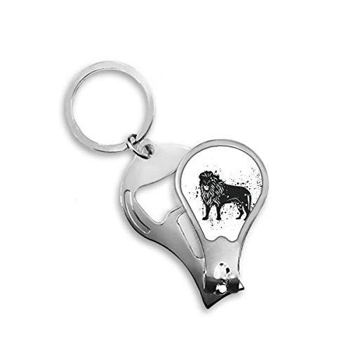DIYthinker Mexique Lion Simple noir et blanc Ongle Clipper Cutter