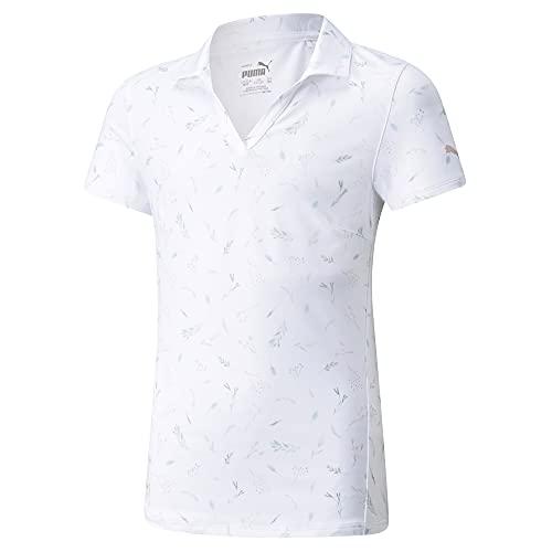 PUMA Golf- Junior Girls MATTR Greenery Polo Bright White Medium