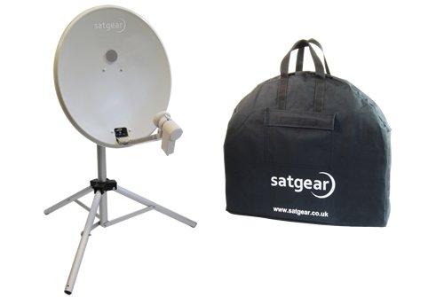 Satgear 54cm Portable Twin Channel Satellite Kit - Off-White Dish