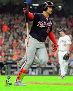Washington Nationals 2019 World Series Champions Juan Soto, Home Run During Game 6 8x10 Photo Picture bat