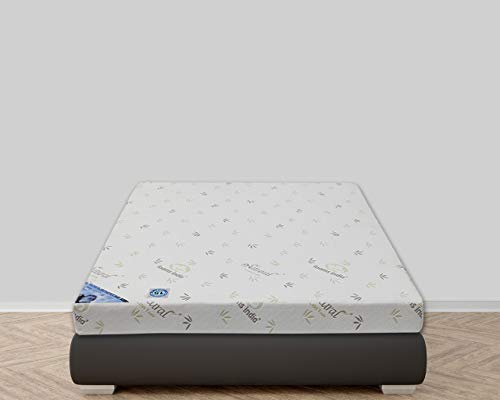 FoamsIndia® 100% Natural Latex Foam® Pearl Mattress Medium Firmness with One Latex Elegant Pillows Free(24 BEM Worth Rs.1540)