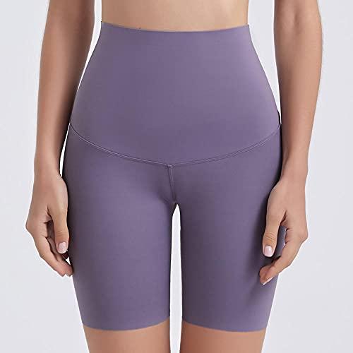 ArcherWlh Leggings Push Up,Yoga Sports Shorts High Cintura Hip Pantalones Pantalones Femeninos Fitness Fitness Cinco Pantalones-Crystal Purple_L