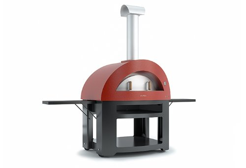 alfapizza Allegro Antik Rot Outdoor Pizza Ofen–Holz gebrannt Ofen