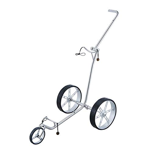 Best Bargain Limaomao Golf Carts Foldable 3 Wheel Push Golf Cart Swivel Pull Cart Golf Trolley Golf ...
