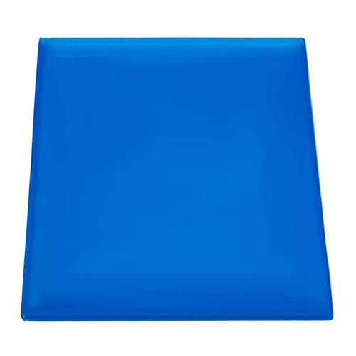 POFET - Cojín de gel para asiento de motocicleta (25 x 25 x 2 cm), color azul