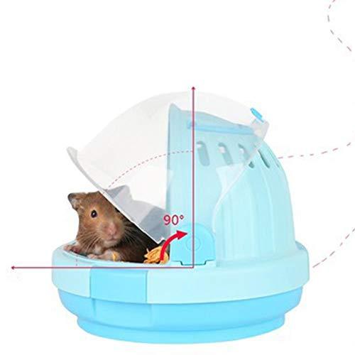 DishyKooker Tragbarer Käfig für Hamster, Igel, Nest für Haustiere, Zubehör, Blau