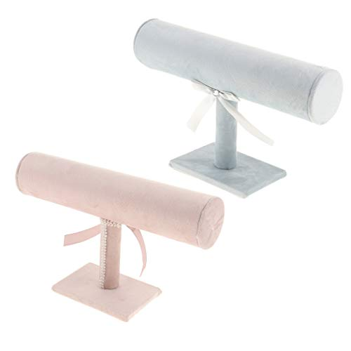 Non brand Sharplace - Soporte para pulseras (2 unidades), color rosa y azul