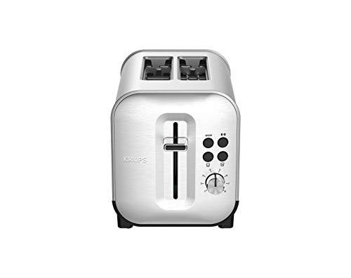 Krups Excellence KH682D10 Toaster mit 2 Schlitzen, Edelstahl, Thermostat, 8 Positionen, Toaster