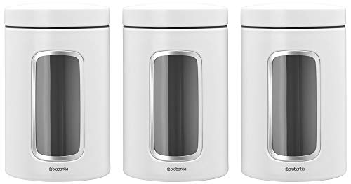 Best Bargain Brabantia Window Canister, 1.4L, White