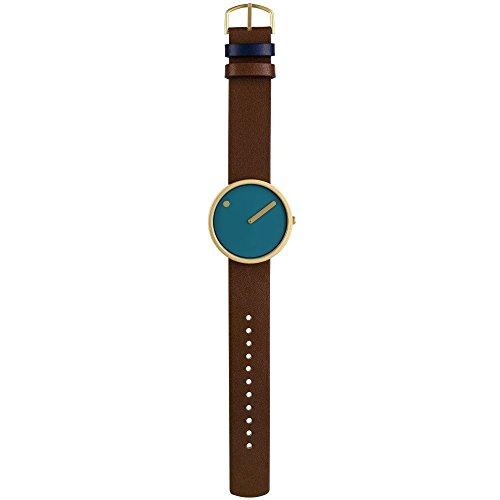 Rosendahl Picto unisex analoog kwarts horloge met lederen armband 43376
