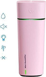 Nologo Mini humidificador de Vapor frío USB Personales Pequeños humidificador, humidificador vaporizador Linda turística, con un pequeño Ventilador y luz de Noche for el Dormitorio de Coches Ofi