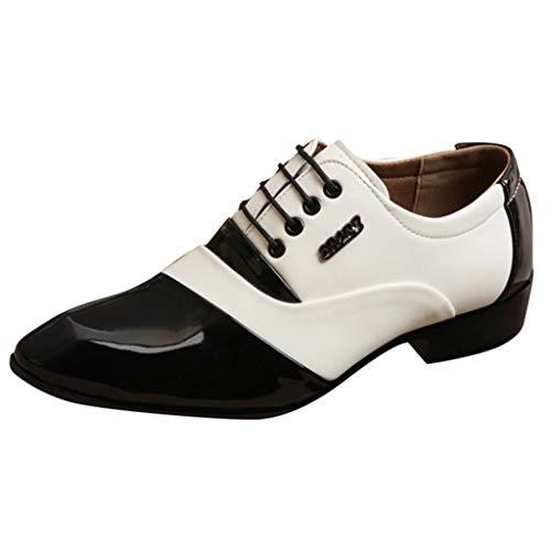 HoSayLike Zapatos De Cuero De Los Hombres Casual CóModo Negocios Ropa Formal Puntiagudo Ata para Arriba Zapatos De Traje Zapato De Boda Zapatos De Traje Masculino