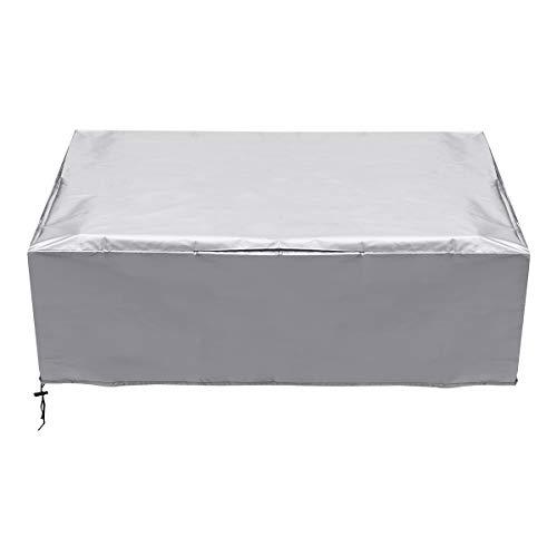 Janolia - Copertura per vasca idromassaggio, da SPA, anti-UV, antipolvere, impermeabile, per esterni, Argento, 231cm×90cm
