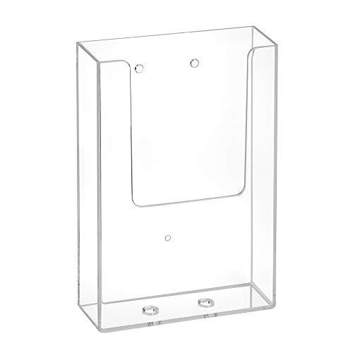DIN Lang Wandprospekthalter mit Bohrlöchern/Prospekthalter/Flyerhalter/Wandmontage/Transparent - Zeigis®