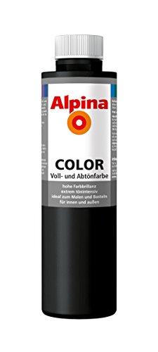 Alpina Farben Voll und Abtönfarbe Wandfarbe Alpina Color Farbton Night Black 750 ml