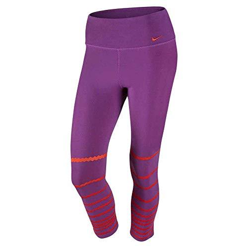 Nike Damen Oberbekleidung Legend Poly Burnout Tights, lila, S
