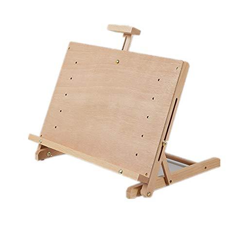 WH-IOE Chevalet Desktop Board Dessin Chevalet Pliant Débutant Esquisser Peinture Table réglable Planche à Dessin Multicolore en Option Mariage Enfant Grand (Color : Natural, Size : A)