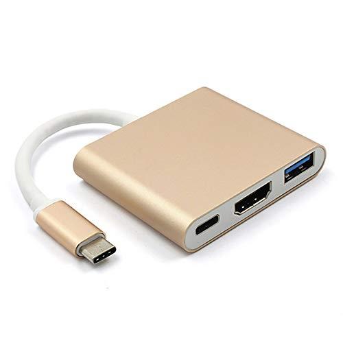 YXYY Typec naar hdmi 3 in 1 Type C Hub-adapter 1080P USB C HDMI Converter Type C Hub-adapter voor ondersteuning MacBook Pro/Samsung Galaxy S8/Google Pixel