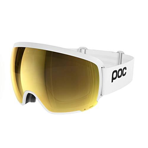 POC Orb Clarity, Maschera da Sci Alpino Unisex-Adulto, Bianco (Hydrogen White/Spektris Gold), Taglia Unica
