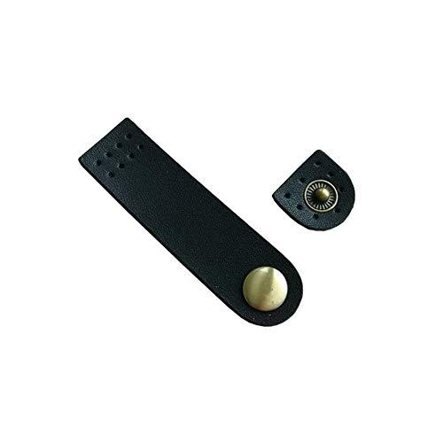 JIHUOO 2 juegos de hebillas de piel sintética con cierre de botones de costura para hacer bolsos, manualidades, color negro
