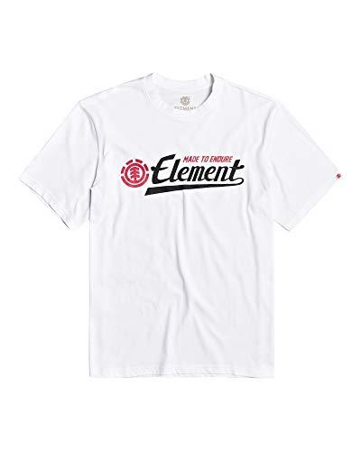 Element Signature SS, T-Shirt Uomo, Optic White, M