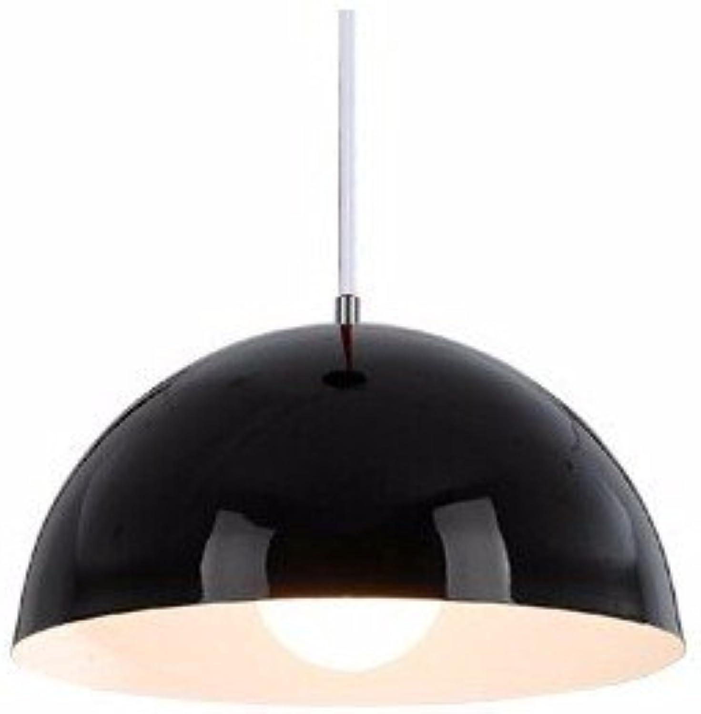 Moderne Halbkreis Hngeleuchte Hngeleuchten Fixture Hanglamp für Home Indoor Esszimmer Büro Leuchten Dekor, Schwarz-25 cm