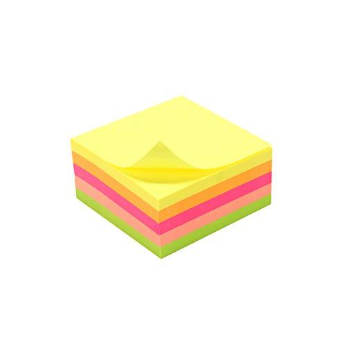 Waytex Bloc note repositionnable 5 couleurs néon 250 feuilles 50 x 50 mm 931650