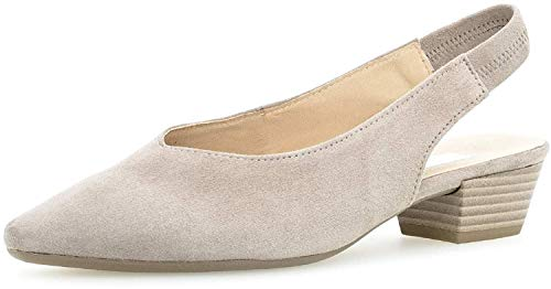 Gabor Damen Pumps, Frauen Sling-Pumps, bequem Komfort Damen Frauen weibliche Lady Ladies feminin elegant Women's Women Woman,Visone,38.5 EU / 5.5 UK