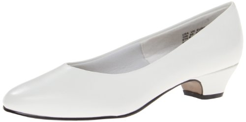 Soft Style Women's Angel II Pump,White Smooth,9.5 W US
