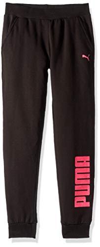 PUMA Girls' Big Fleece Jogger Pant, Black, XL