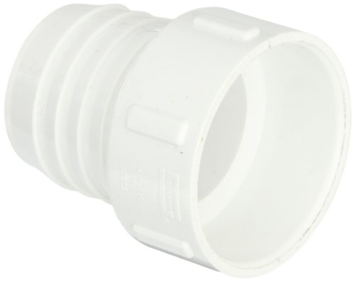 Spears 474 Series PVC Pipe Fitting, Adapter, Schedule 40, White, 2