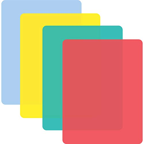 Multi-Color Flexible Plastic Cutting Board Mats Set of 4 Made in the USA