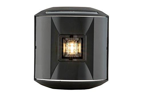 "Aqua Signal 44500-7 Series 44 LED Navigation Light - Stern (White) with Black Housing, 3.75"""" x 4.25"""""""