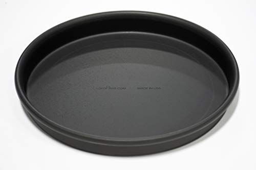 LloydPans 10x1 PreSeasoned PSTK Rolled Rim for Strength Straight Sided Pizza Pan inches Dark Gray