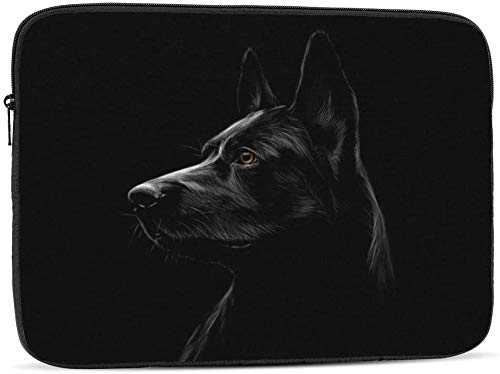 Portrait of A Bat - Funda para ordenador portátil compatible con 10 – 17 pulgadas, funda para ordenador portátil, Retrato de un perro pastor, 13 pulgadas