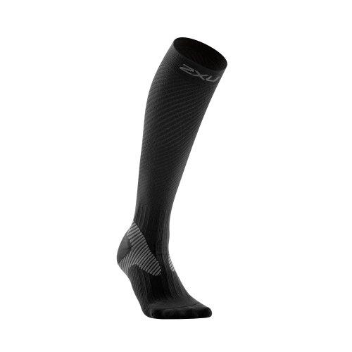 2XU Herren Kompressionssocken Mens Elite Socks, Black/Grey, S, MA1993e
