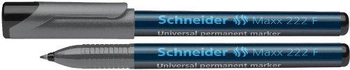 Schneider Maxx 222 F Universal-Marker (permanent, Cap-Off-Ink, nachfüllbar, 0,7 mm) 10er Packung schwarz